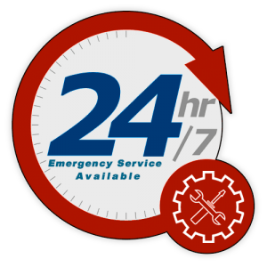 24 hour 7 Day Per Week Emergency Service Available